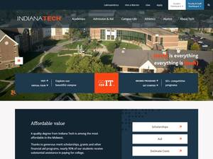 Indiana Institute of Technology's Website Screenshot