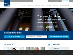 HEC Montréal's Website Screenshot