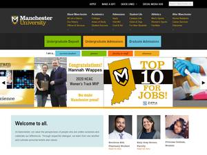 Manchester University's Website Screenshot