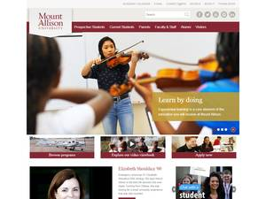 Mount Allison University's Website Screenshot