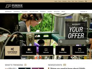 Purdue University's Website Screenshot