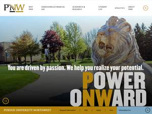 Purdue University Northwest's Website Screenshot