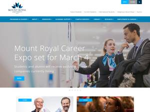 Mount Royal University's Website Screenshot