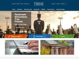 Trine University's Website Screenshot