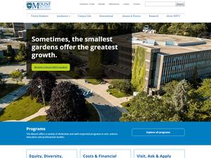 Mount Saint Vincent University's Website Screenshot