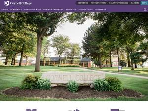 Cornell College's Website Screenshot
