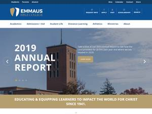 Emmaus Bible College's Website Screenshot