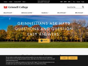 Grinnell College's Website Screenshot