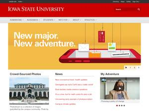 Iowa State University of Science and Technology Screenshot