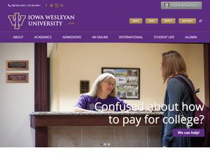 Iowa Wesleyan University's Website Screenshot