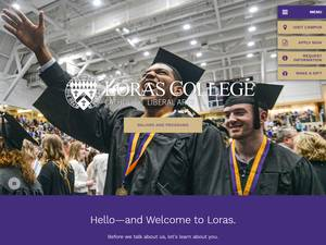 Loras College's Website Screenshot