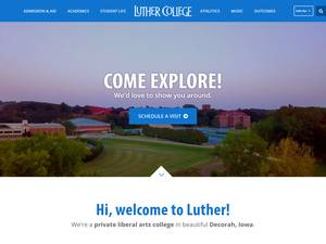 Luther College's Website Screenshot