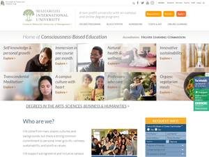 Maharishi International University's Website Screenshot