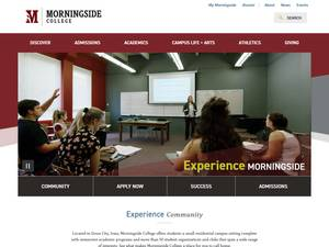 Morningside College's Website Screenshot