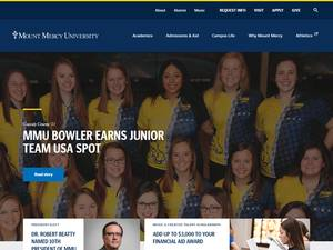 Mount Mercy University's Website Screenshot