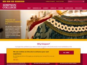 Simpson College's Website Screenshot