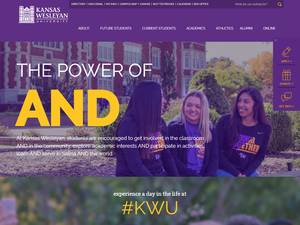 Kansas Wesleyan University's Website Screenshot