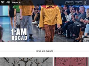 NSCAD University's Website Screenshot