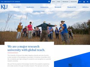 University of Kansas's Website Screenshot