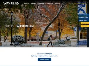 Washburn University's Website Screenshot