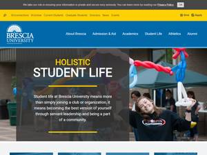 Brescia University's Website Screenshot