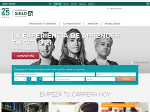 Universidad Empresarial Siglo 21's Website Screenshot