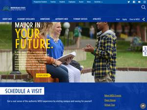 Morehead State University's Website Screenshot