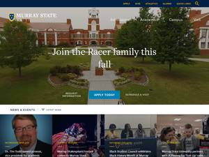 Murray State University's Website Screenshot