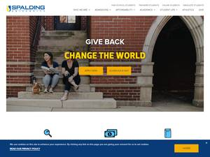 Spalding University's Website Screenshot