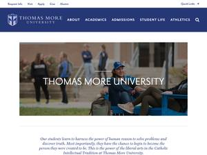 Thomas More University's Website Screenshot