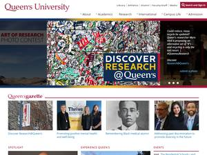 Queen's University's Website Screenshot