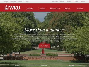 Western Kentucky University's Website Screenshot