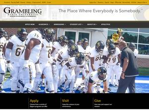 Grambling State University's Website Screenshot