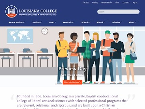 Louisiana College's Website Screenshot