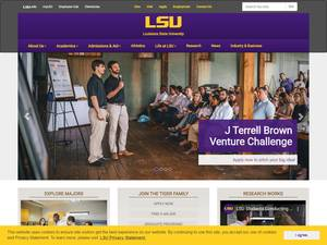 Louisiana State University's Website Screenshot
