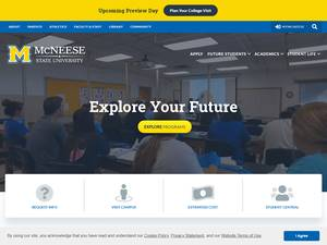 McNeese State University's Website Screenshot