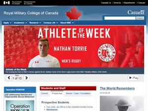 Royal Military College of Canada's Website Screenshot