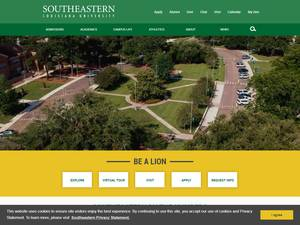 Southeastern Louisiana University's Website Screenshot