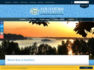Southern University and A&M College's Website Screenshot