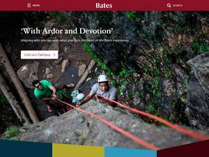 Bates College's Website Screenshot