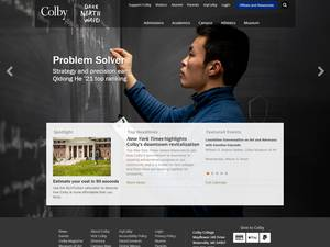 Colby College's Website Screenshot