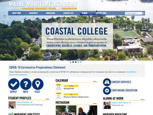 Maine Maritime Academy's Website Screenshot
