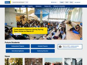 Ryerson University Screenshot