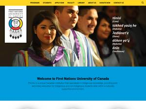 First Nations University of Canada Screenshot