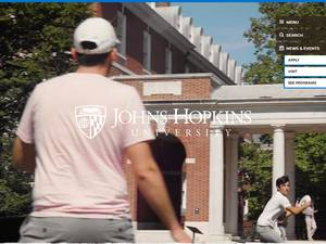 Johns Hopkins University's Website Screenshot