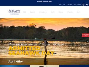 St. Mary's College of Maryland's Website Screenshot