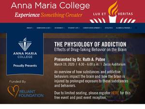 Anna Maria College's Website Screenshot