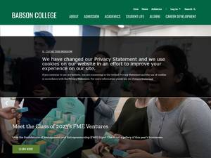 Babson College's Website Screenshot