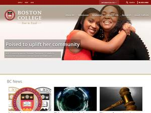 Boston College's Website Screenshot