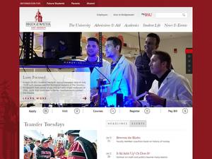 Bridgewater State University's Website Screenshot